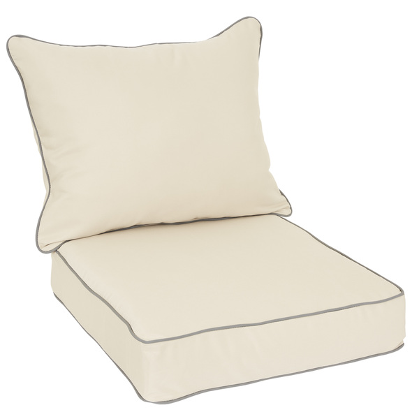 Outdoor-Chair-Cushion-and-Pillow-Set-with-Sunbrella-Fabric-Antique-Beige-with-Charcoal-piping-90213