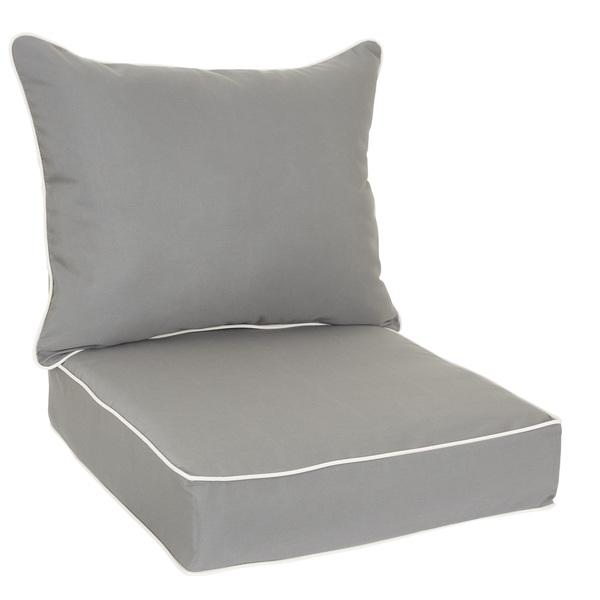 Outdoor-Chair-Cushion-and-Pillow-Set-with-Sunbrella-Fabric-Charcoal-with-Canvas-piping-90213