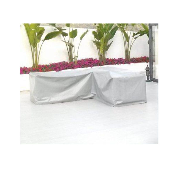 Outdoor-Protective-Cover-Grey-L-shape-sofa