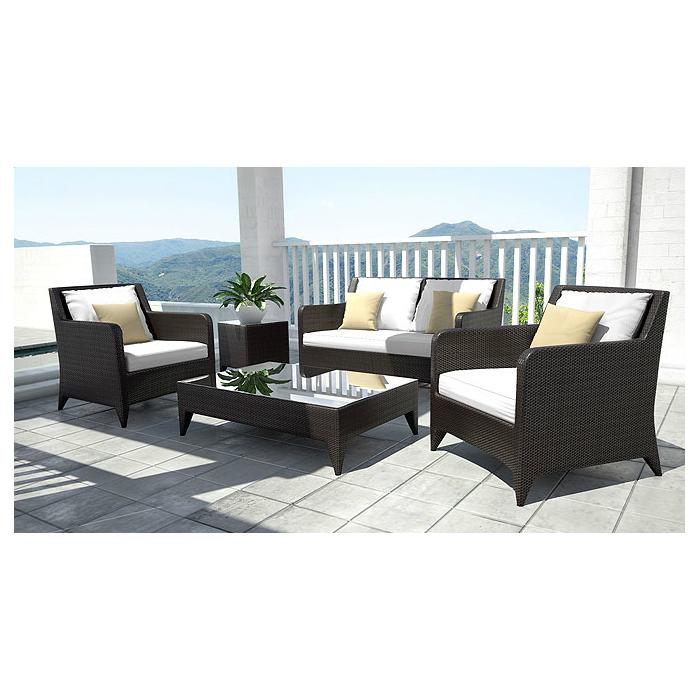 Sofa-10071-Serena-sofa-set-brown-weave-white-cushion-1