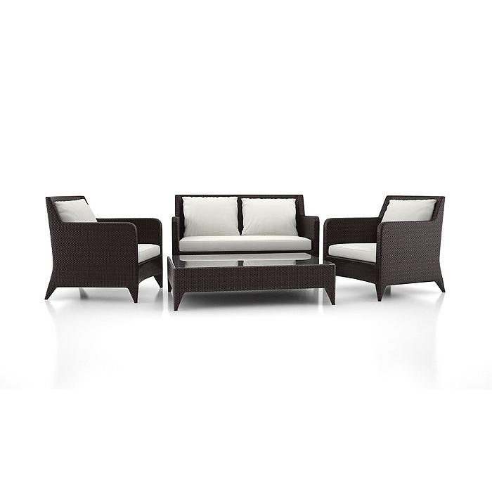 Sofa-10071-Serena-sofa-set-brown-weave-white-cushion